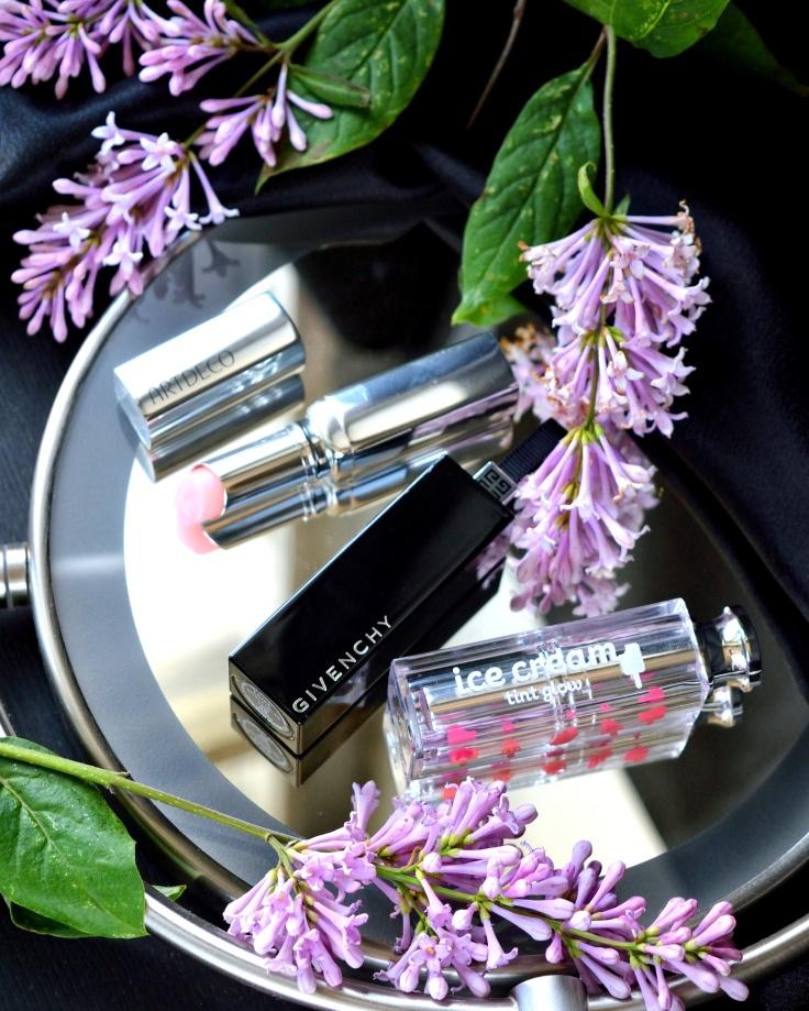 Givenchy-Rouge-Interdit-62-Livs-lips-Artdeco-Color-Booster-lip-balm-Secret Key-Ice-Cream-Tint-Glow-keshyoubeauty